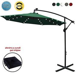 ABCCANOPY 10 FT Solar Powered LED Patio Outdoor Umbrella Han