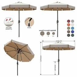 ABCCANOPY 7.5' Outdoor Garden Table Umbrella Patio 7.5FT, Kh