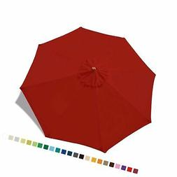 ABCCANOPY 9ft Market Umbrella Replacement Patio Umbrella Top
