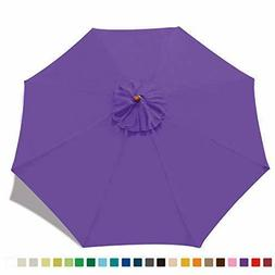 ABCCANOPY 9ft Outdoor Umbrella Replacement Top Patio Market
