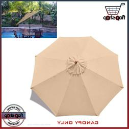 9FT Patio Umbrella Canopy Top Cover Replacement 8 Ribs Marke