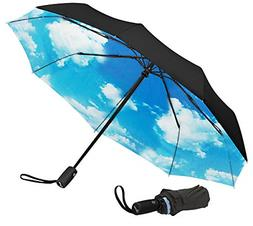 Best Repel Windproof Travel Umbrella With Teflon Coating Lig