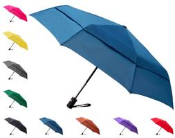 Fidus Compact Windproof Vented Automatic Travel Umbrella wit