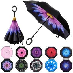 Double Layer Inverted Umbrella Anti-UV Windproof Reverse w/