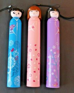 Girl's Umbrellas with 3 Chinese Figures