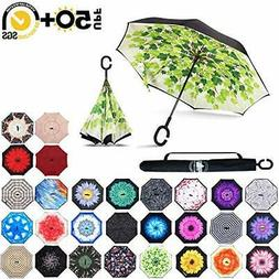 ABCCANOPY Inverted Umbrella,Double Layer Reverse Rain&Wind T