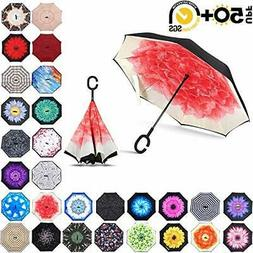 ABCCANOPY Inverted Umbrella,Double Layer Reverse Rain&Wi