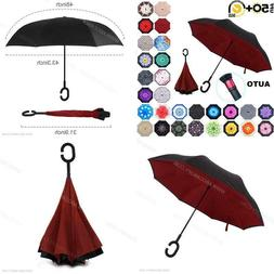 Abccanopy Inverted Umbrella Double Layer Reverse Rain  Wind