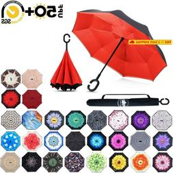 Abccanopy Inverted Umbrella,Double Layer Reverse RainWind Te