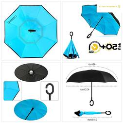 ABCCANOPY Inverted Umbrella,Double Layer Reverse Windproof T