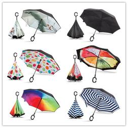 Sharpty Inverted, Windproof, Reverse Umbrella for Women with