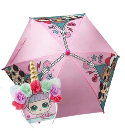 LOL Surprise Kids Umbrella with Clamshell Handle w/Unicorn H