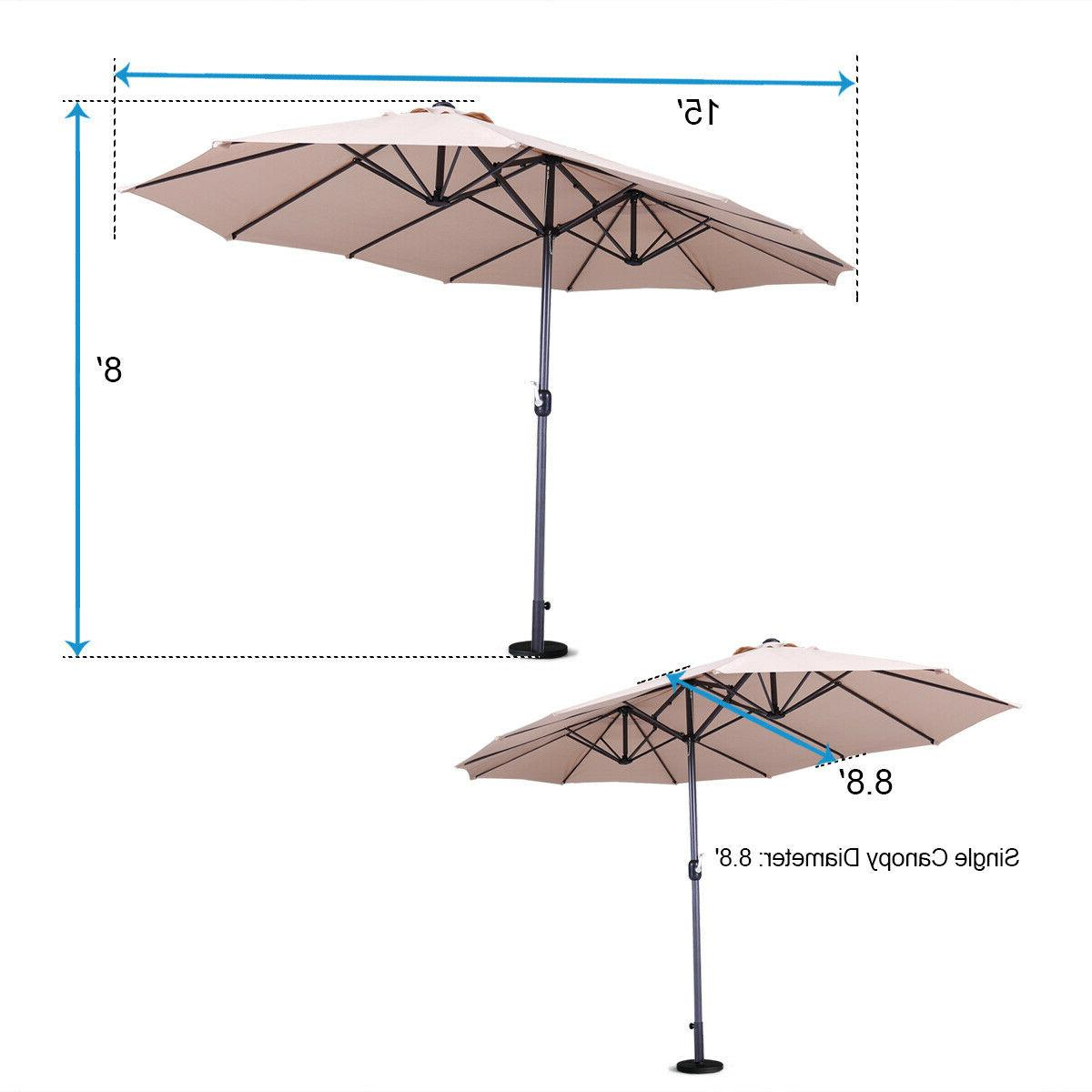 15ft Double-sided Large Twin Outdoor Market SunShade