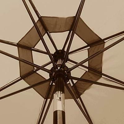 9ft Outdoor Umbrella for Patio Replacement Canopy 8