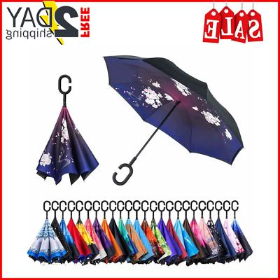 bagail double layer inverted umbrellas reverse folding