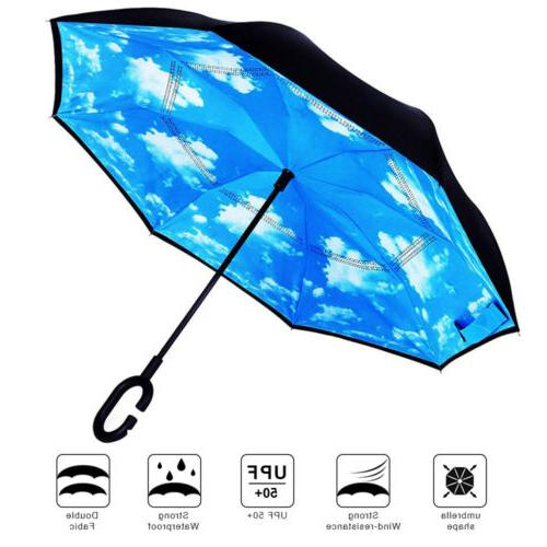 Double Anti-UV Windproof Reverse C-Shaped