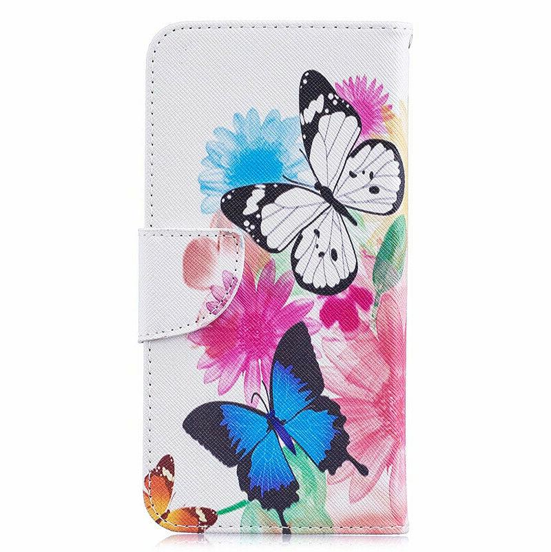For Samsung A20E A40 A70 Leather Wallet Mask Phone