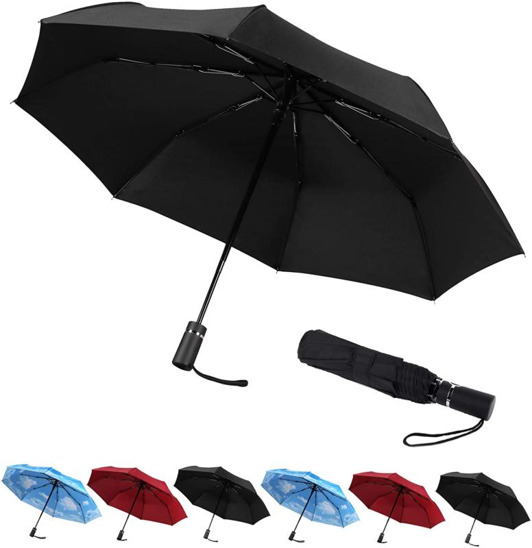 Sy Compact Travel Umbrella Automatic Windproof Umbrellas-Fac