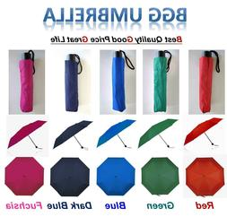 Lot BGG Compact Folding Travel Parasol Umbrella Anti UV Wind