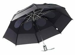 """Gustbuster Metro Dual Canopy Collapsible AUTO OPEN 43"""" Umbre"""