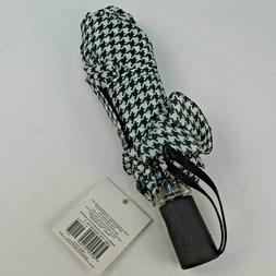 """Totes Punctuate Houndstooth Umbrella 43"""" One Touch Open and"""