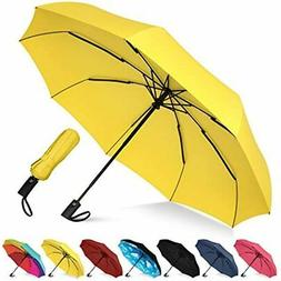 Rain-Mate Compact Travel Umbrella Windproof, Reinforced Cano