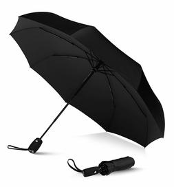 LifeTek Windproof Travel Umbrella Compact Automatic Open Close Small Folding Tef