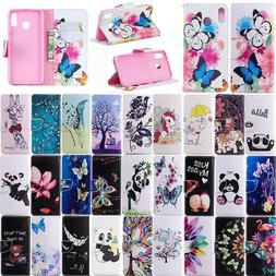 For Samsung galaxy A10 A20E A30 A40 A50 A70 Leather Wallet C